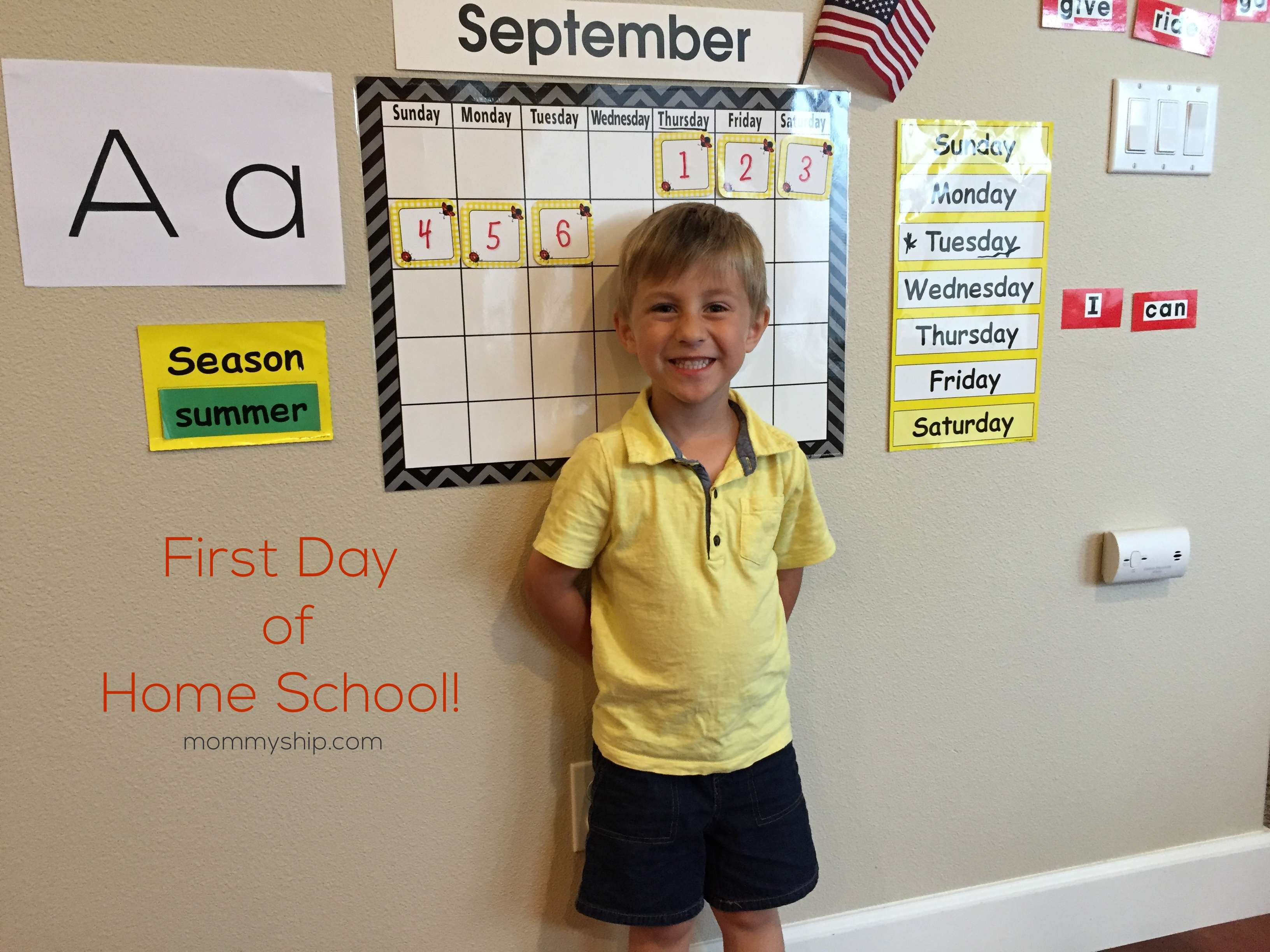 First Year of Home Schooling